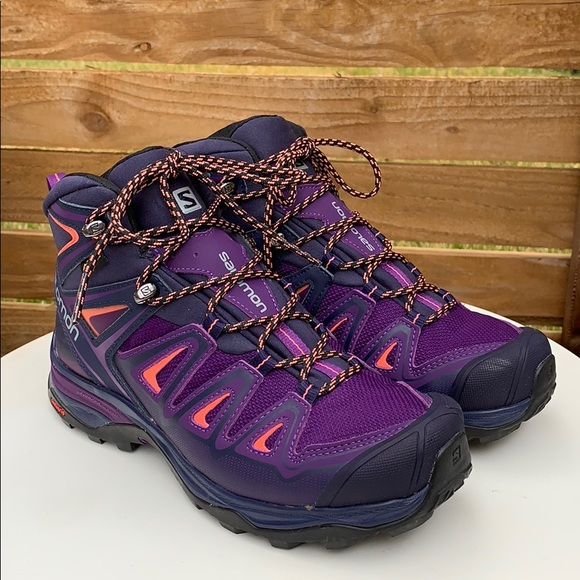 huge discount 45b63 6e058 Like New! Salomon X Ultra 3 GTX Mid - Acai & Coral